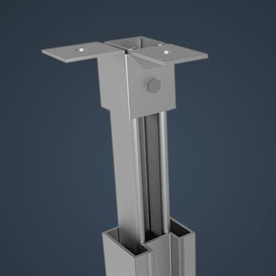Extruded Aluminum Telescoping Support Tubes