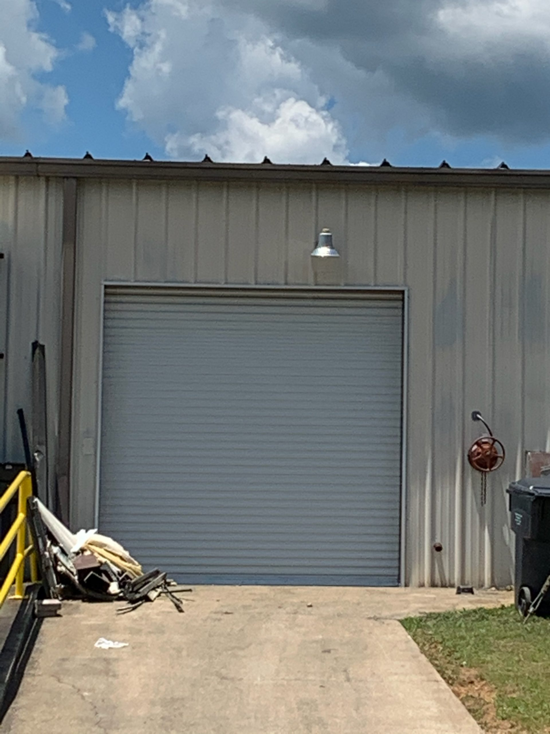 to show a picture of a commercial rolling steel door
